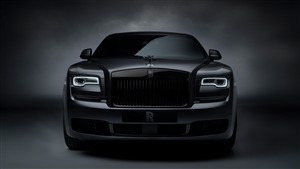 8K Wallpaper of 2019 Rolls Royce Ghost Black Badge Car