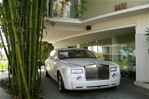 Rolls Royce Car Park Outside Home