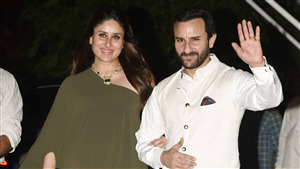 Bollywood Film Star Actress Kareena Kapoor with Spouse Saif Ali Khan