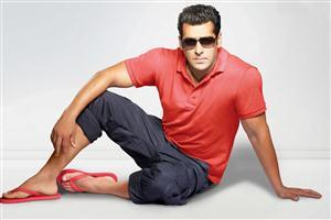 Salman Khan Sitting in red Tshirt