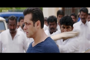 Salman Khan during Fight in Jai Ho Upcoming 2014 Hindi Bollywood Movie Images