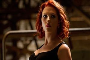 Beautiful Scarlett Johansson in Black Hollywood Actress Free Wallpapers