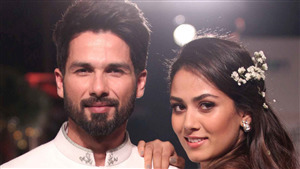 Mira Rajput and Shahid Kapoor Wedding Photo Shoot