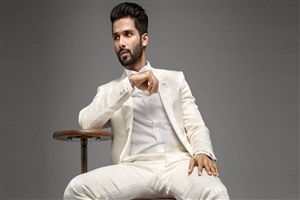 Shahid Kapoor in White Suit Photo