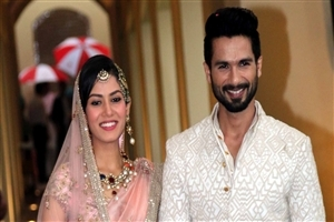 Shahid Kapoor with Mira Rajput HD Wallpaper