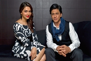 Deepika Padukone and Shahrukh Khan for TV Interview Photo