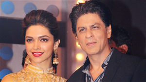 Film Star Shahrukh Khan with Deepika Padukone