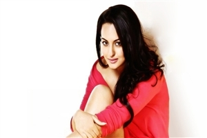 Actress Sonakshi Sinha in Red Dress HD Pics