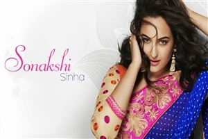 Hot and Sexy Look of Sonakshi Sinha in Saree HD Wallpapers