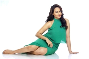 Sonakshi Sinha in Green Dress Photoshoot