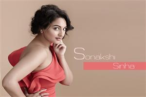 Sonakshi Sinha in Red Clothe