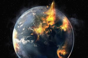 Fire Earth Wallpaper