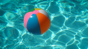 Beach Ball in Swimming Pool Summer Game 4K Photo