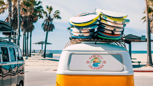 Beach Summer Surfboard Van HD Images
