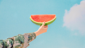 Person Holds Watermelon Slice Summer Pics