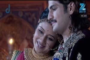 Paridhi Sharma as Jodha and Rajat Tokas in Jodha Akbar Hindi TV Serial