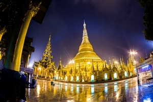 Shwedagon Pagoda Temple on Myanmar Country Wallpaper