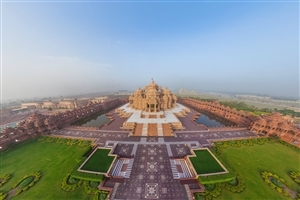 Swaminarayan Akshardham Hindu Temple in Delhi HD Wallpapers