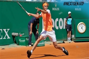 Alexander Zverev During Tennis Game Photo