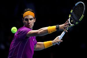 Rafael Nadal in Tennis Match Wallpapers