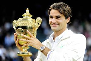 Roger Federer with Winning Cup Wallpapers