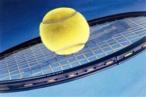 Tennis Ball on Racket Pics