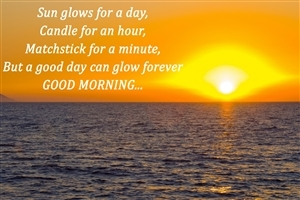 Beautiful Good Morning Quote on Sun and Day HD Wallpapers