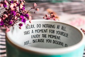 Beautiful Quote on Relax Wallpaper