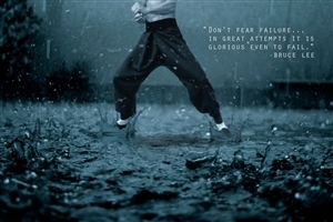 Bruce Lee Quote about Failure Wallpaper