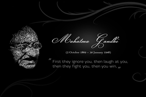 Famous Mahatma Gandhi Father of Nation Quotes on Success