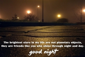 Good Night Friends Quote HD Desktop Background Wallpapers
