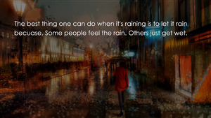 Masterly Quote on Rain HD Wallpaper