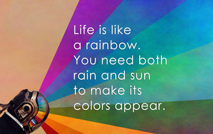 Nice Quote on Colorful Life HD Wallpaper