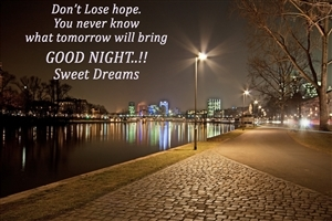Nice Quote on Dont Lose Hop Good Night Thoughts HD Wallpapers
