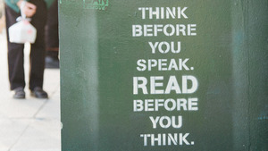 Think and Read Quote Background Wallpapers