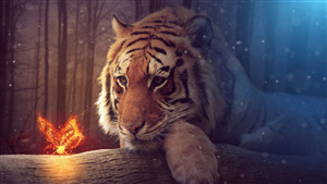 Tiger 5K Fantasy Wallpaper