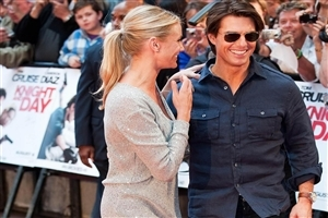 Tom Cruise Smile with Actress Photo