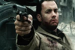Tom Hanks in Hollywood Movie Saving Private Ryan