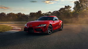 2020 Toyota GR Supra Red Car Wallpaper