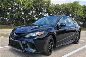 New 2018 Toyota Camry Black Car
