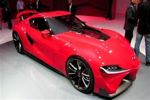 New Latest Toyota Supra 2015 Red Color Luxury Car HD Photos