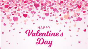 Happy Valentines Day Pink HD Wallpaper