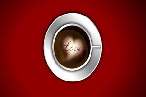 Love in Coffee Cup