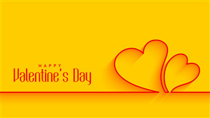 Valentines Day 5K Yellow Wallpaper
