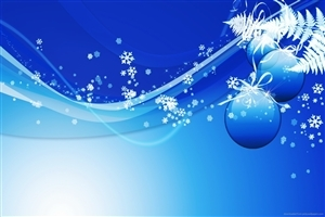 Blue Winter Theme Design Photo