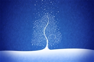 Snowy Type Tree Design Image
