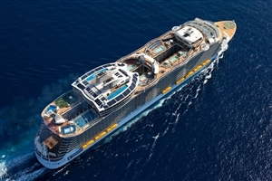 Amazing Big Ship with Helipad and Swimming Pools Photo