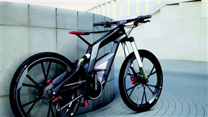 Audi Foldable Bicycle 4K Wallpaper