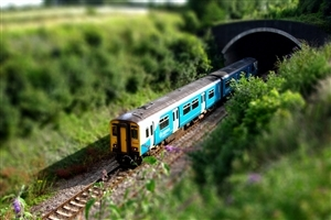 Beautiful Tilt Shift Wallpaper of Train