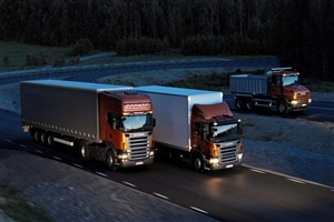 Havey Luxury Trucks on Road Photo